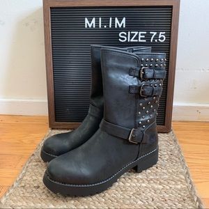 Mi.iM - Studded Combat Boots